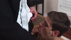 MissionaryBoys: Bulge Elder Ence undressing in office