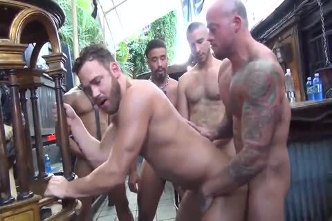 MusclePup Logan Moore acquires gang team-poked Barebacked hammer