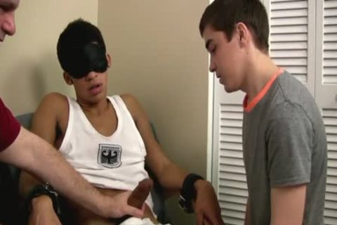 homosexual teen First Time sucking A Restrained Straight large ramrod