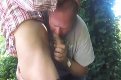 nasty Married daddy Cruising In The Woods