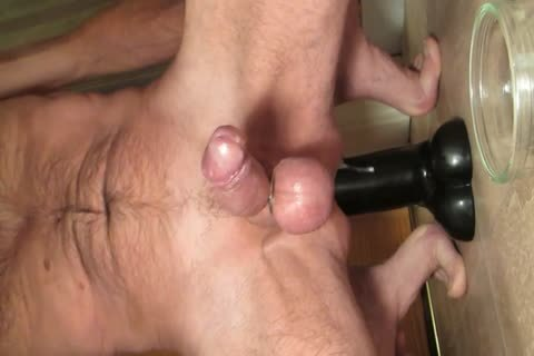 Shooting cum Riding My biggest Smooth darksome fake penis