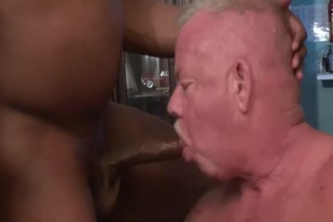 big dark 10-Pounder pound slutty grandad