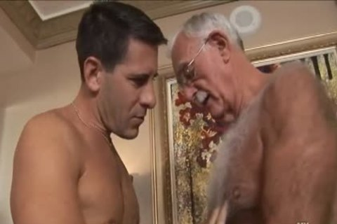 bushy daddy man Mutual Masturbation With Younger Coworker