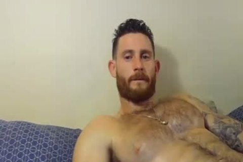 handsome And pumped up guy Caressing His Hard cock