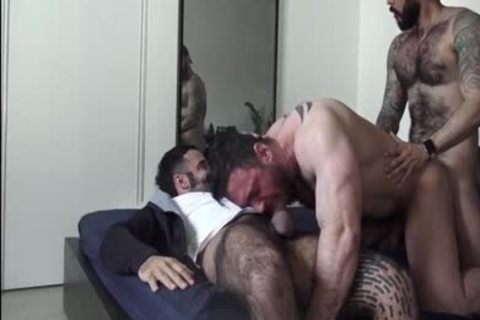 On All Fours that man's expecting For two large cocks