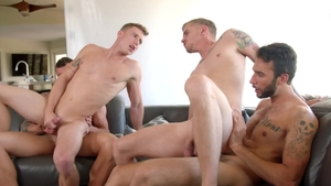 Next Door Buddies - Tattooed Justin Matthews rough orgy