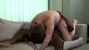 ExtraBigDicks.com - Bald black dick Aaron Trainer kissing