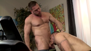 Men Over 30 - Piercing Julian Knowles raw throat fucking