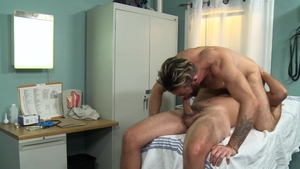 MenOver30 - Brendan Patrick in uniform jerking big cock