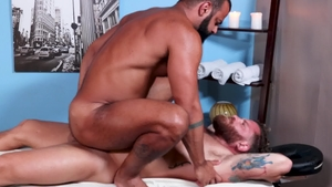 MenOver30.com: Gay Riley Mitchel condom kissing each other