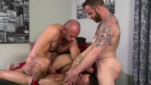 PrideStudios - Bald Marcus Isaacs condom rimming ass fucking