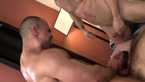 PrideStudios: Cesar Rossi in uniform enjoys hard nailining
