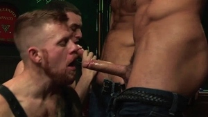 RagingStallion.com - Hairy Jack Andy cumshot wearing boots