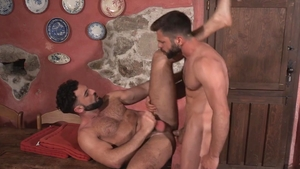 HotHouse - Furry Hector De Silva goes for swallow in briefs